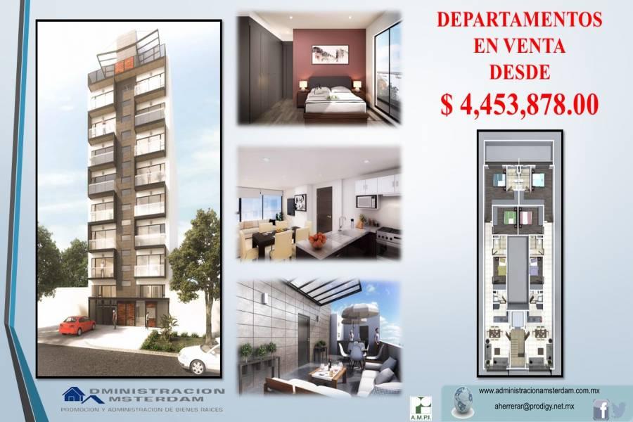 Benito Juárez,Ciudad de México,México,2 Habitaciones Habitaciones,Apartamentos,AV. CUAUHTEMOC,2357