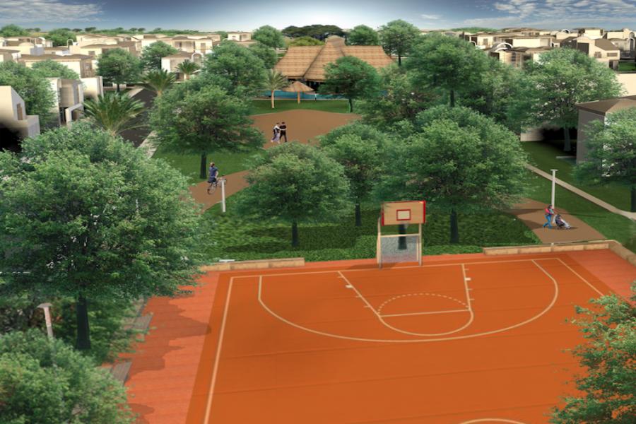 El desarrollo contara con una cancha de usos múltiples deportivos