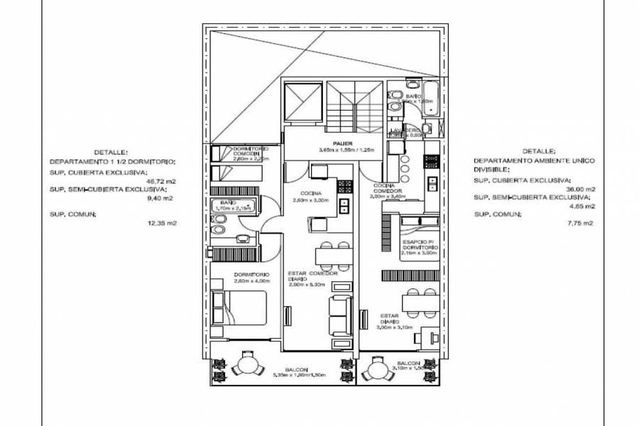 Rosario,Santa Fe,1 BañoBaños,Departamentos,Balcarce,5,1464