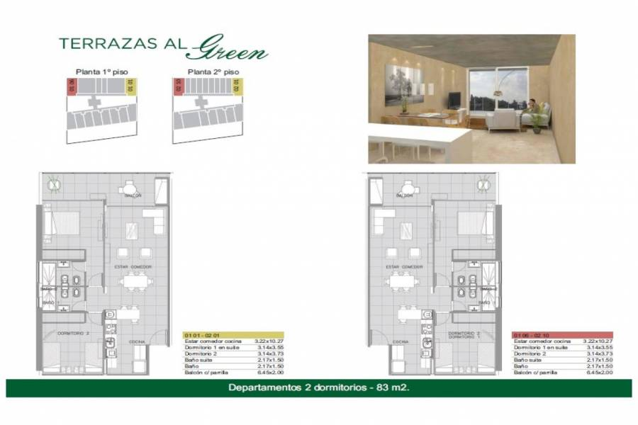 Rosario,Santa Fe,1 Dormitorio Habitaciones,1 BañoBaños,Departamentos,Torre Green Norte,Av. Eva Peron,1556
