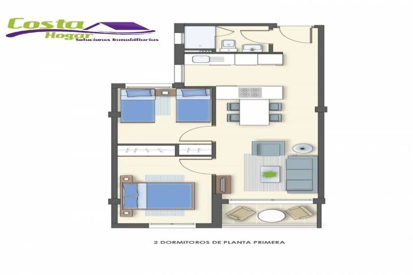 Torrevieja,Alicante,España,1 Dormitorio Bedrooms,1 BañoBathrooms,Pisos,10249