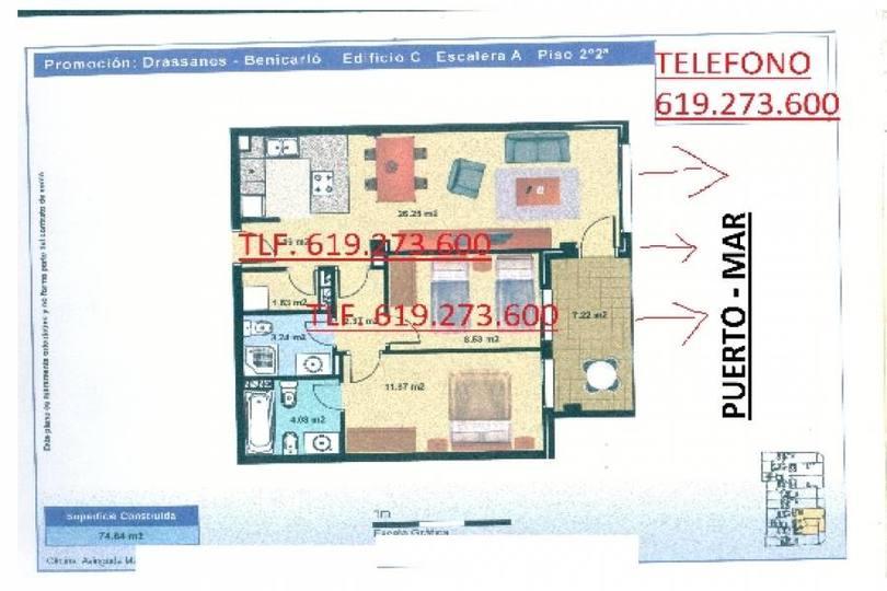 Benicarló,Castellón,España,2 Habitaciones Habitaciones,2 BañosBaños,Apartamentos,1758