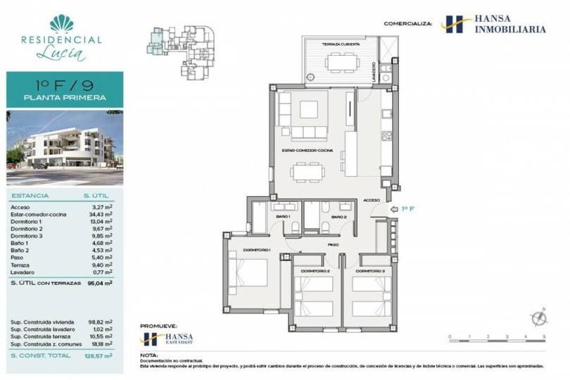 San Juan playa,Alicante,España,3 Bedrooms Bedrooms,2 BathroomsBathrooms,Pisos,12205