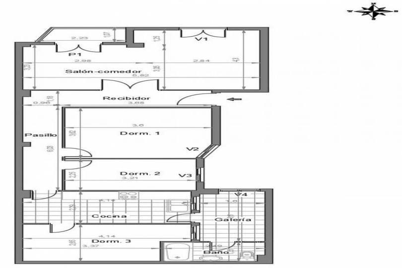 Elche,Alicante,España,3 Bedrooms Bedrooms,1 BañoBathrooms,Pisos,12749