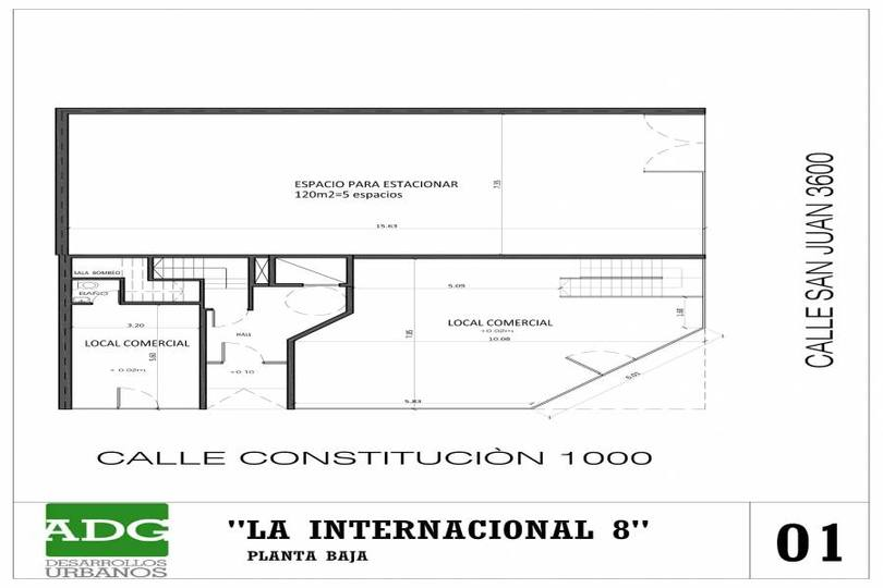 Rosario,Santa Fe,1 BañoBaños,Departamentos,San Juan,6,1154