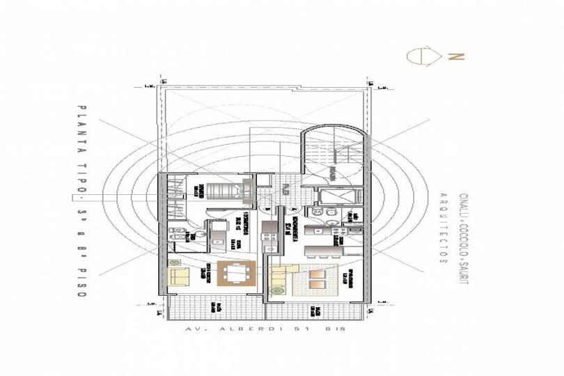 Rosario,Santa Fe,1 Dormitorio Habitaciones,1 BañoBaños,Departamentos,Av. Alberdi ,5,1162