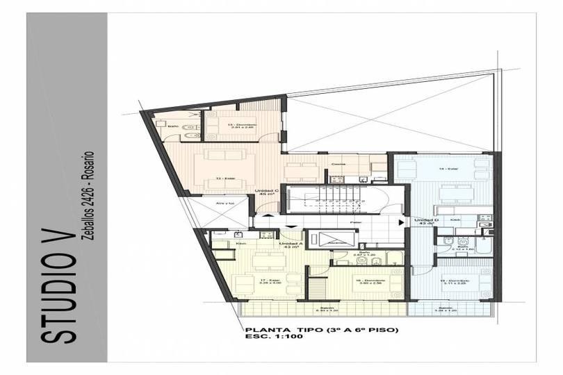 Rosario,Santa Fe,1 Dormitorio Habitaciones,1 BañoBaños,Departamentos,Zeballos ,6,1166
