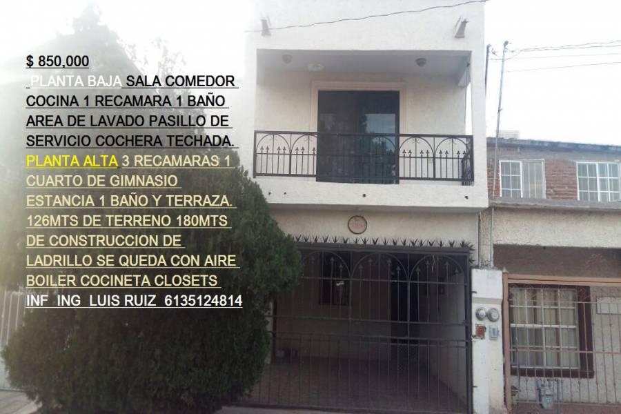 Chihuahua,Chihuahua,México,4 Habitaciones Habitaciones,2 BañosBaños,Casas,2,2906