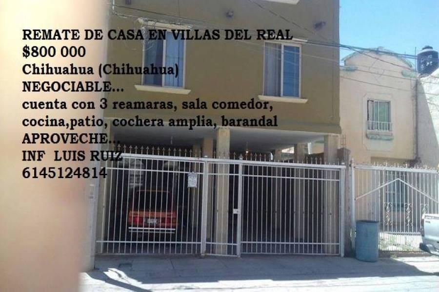 Chihuahua,Chihuahua,México,3 Habitaciones Habitaciones,1 BañoBaños,Casas,1,2907