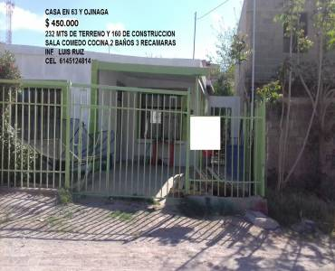 Chihuahua,Chihuahua,México,3 Habitaciones Habitaciones,2 BañosBaños,Casas,63 Y OJINAGA ,1,2927