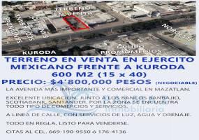 Mazatlán,Sinaloa,México,Lotes-Terrenos,Ejercito Mexicano,2956
