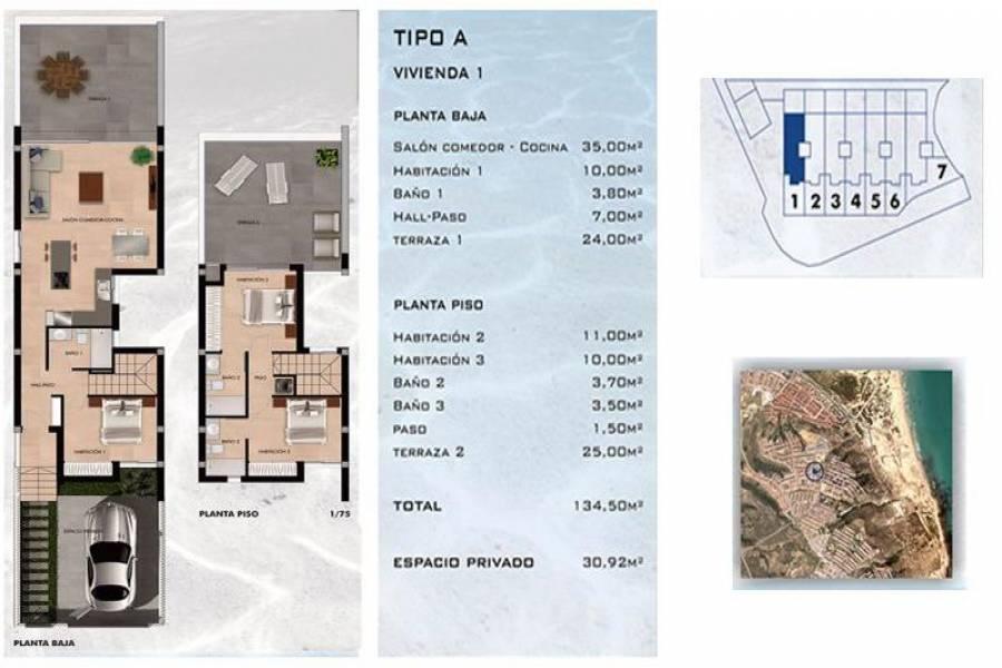 Gran alacant,Alicante,España,2 Bedrooms Bedrooms,2 BathroomsBathrooms,Bungalow,25343