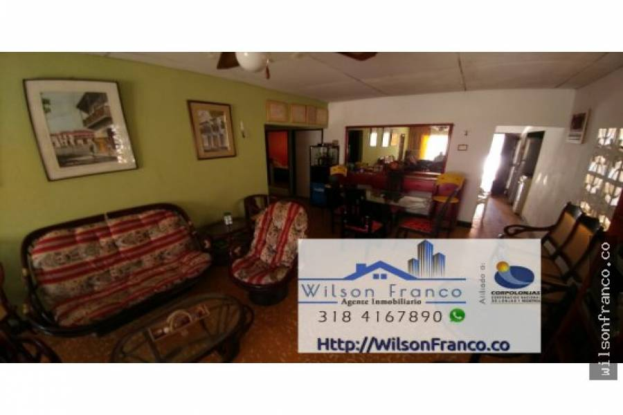 Cartagena de Indias,Bolivar,Colombia,3 Bedrooms Bedrooms,1 BañoBathrooms,Casas,3429