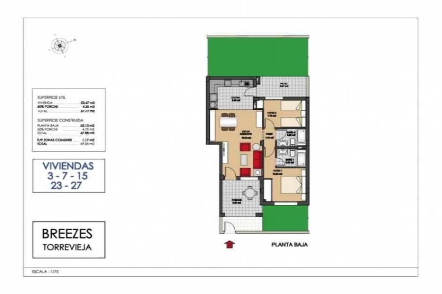Torrevieja,Alicante,España,2 Bedrooms Bedrooms,2 BathroomsBathrooms,Bungalow,31917