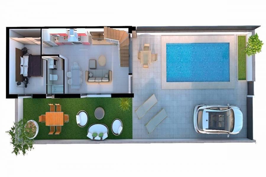 Santa Pola,Alicante,España,2 Bedrooms Bedrooms,1 BañoBathrooms,Bungalow,32083