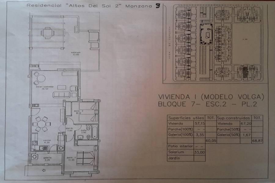 Torrevieja,Alicante,España,2 Bedrooms Bedrooms,1 BañoBathrooms,Atico duplex,34366