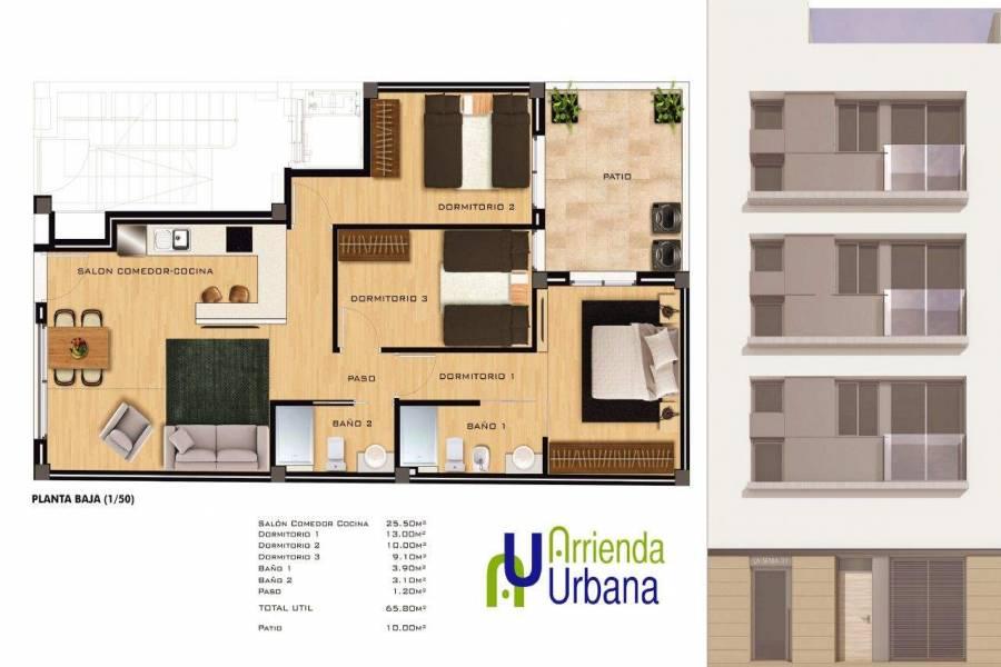 Elche,Alicante,España,3 Bedrooms Bedrooms,2 BathroomsBathrooms,Apartamentos,39477