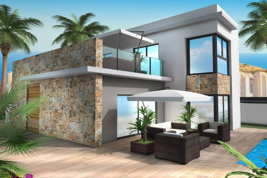 Benidorm,Alicante,España,4 Bedrooms Bedrooms,4 BathroomsBathrooms,Chalets,39613