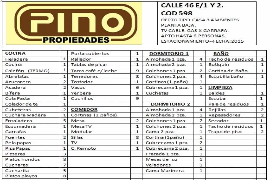 Santa Teresita, Buenos Aires, Argentina, 2 Bedrooms Bedrooms, ,1 BañoBathrooms,PH Tipo Casa,Temporario,46,41272