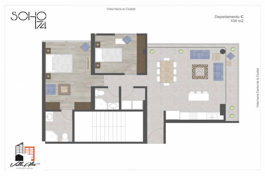 Cuenca, AZUAY, Ecuador, 2 Habitaciones Habitaciones, ,2 BathroomsBathrooms,Apartamentos,Venta,Edificio soho 1-74,Los Cipreses,3,42506