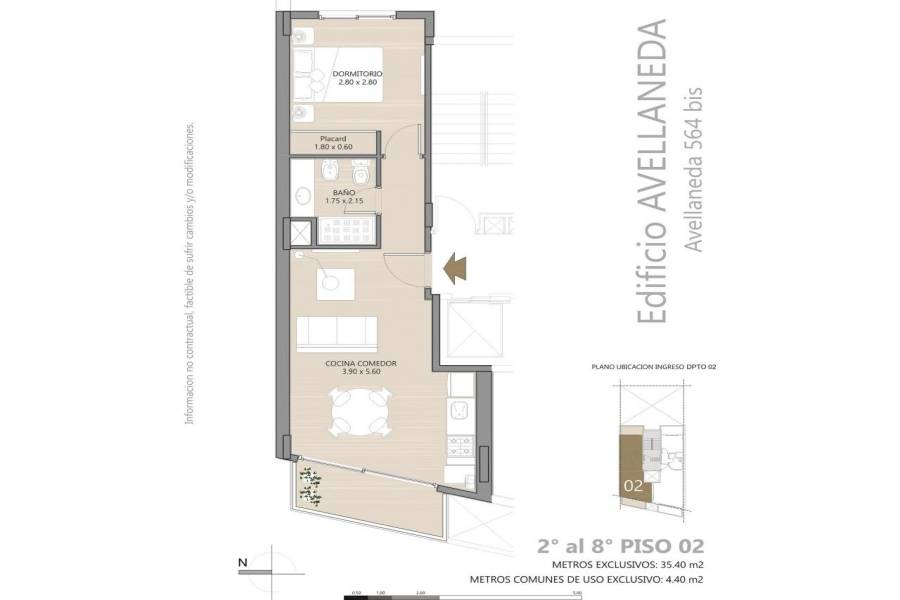 Rosario,Santa Fe,1 Dormitorio Habitaciones,1 BañoBaños,Departamentos,Avellaneda 564 Bis,Bv. Avellaneda ,1,1424