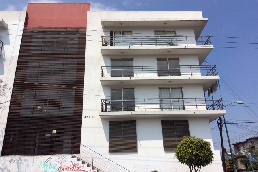 Tlalpan,Distrito Federal,Mexico,2 Bedrooms Bedrooms,1 BañoBathrooms,Apartamentos,Tizimin,5664