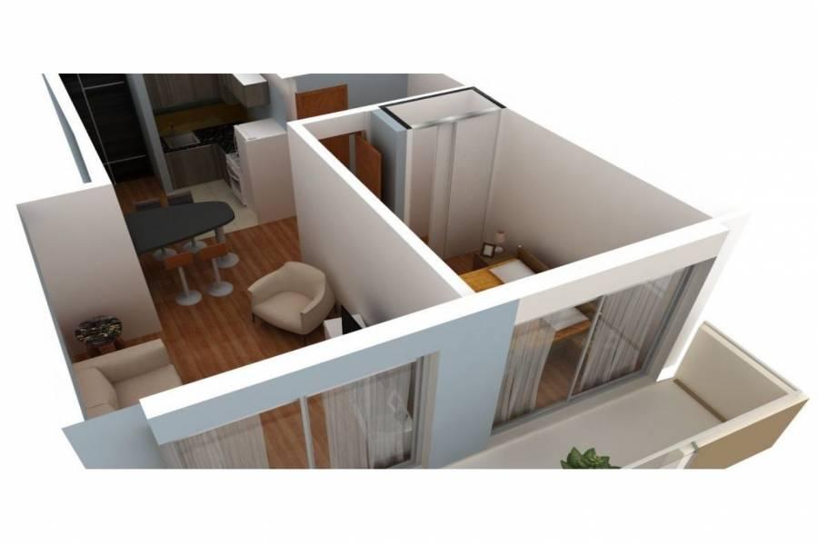 Rosario,Santa Fe,1 Dormitorio Habitaciones,1 BañoBaños,Departamentos,Studio VII,Pueyrredon,2,1562