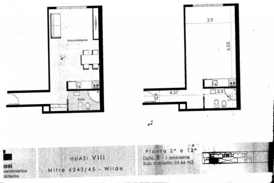 Avellaneda,Buenos Aires,Argentina,2 Bedrooms Bedrooms,1 BañoBathrooms,Apartamentos,MITRE,6944