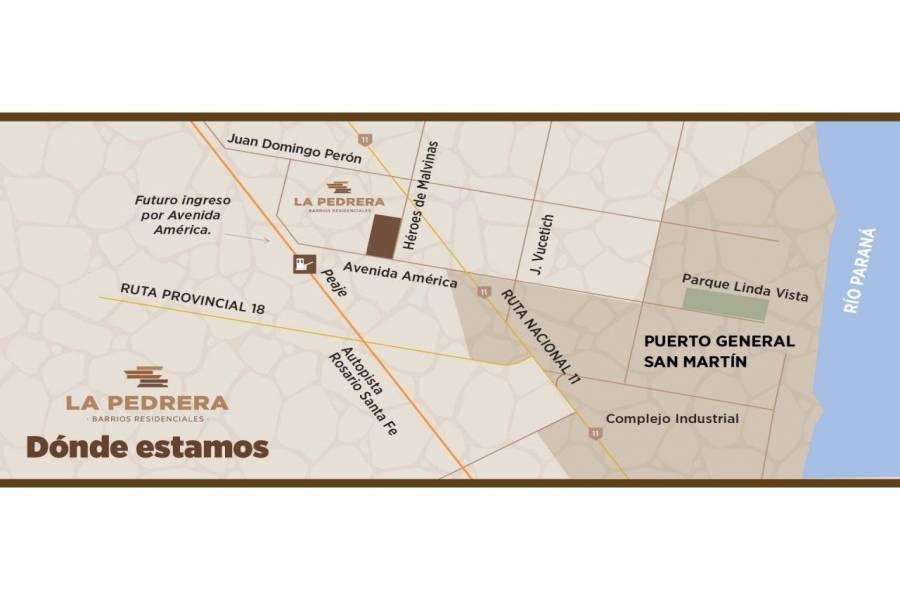 Puerto Gral San Martin,Santa Fe,Argentina,Lotes-Terrenos,Barrio La Pedrera,Av. America y Heroes de Malvinas,1650