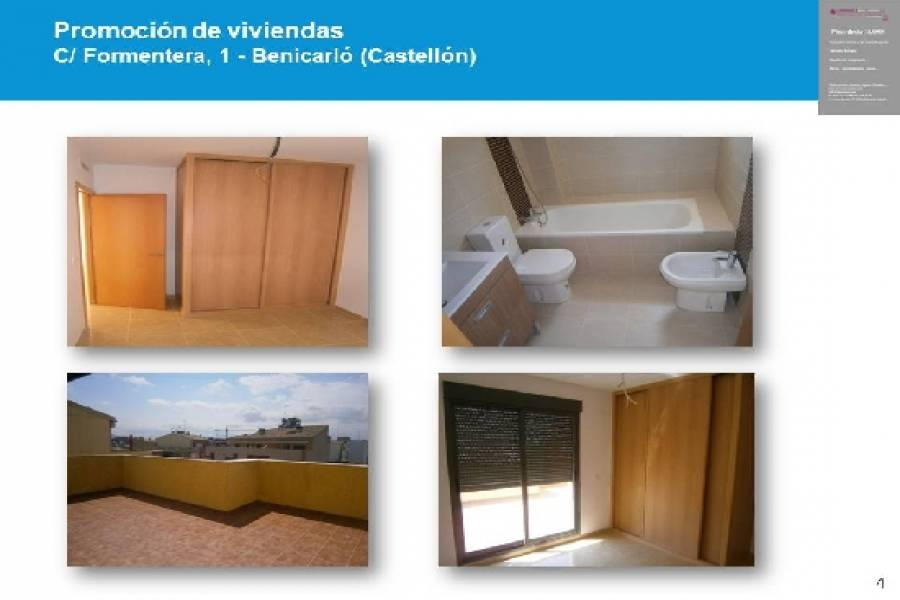 Benicarló,Castellón,España,3 Habitaciones Habitaciones,2 BañosBaños,Apartamentos,1690